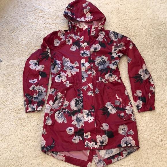 d40b3efc0 Joules Jackets & Blazers - Right as Rain Packable Print Hooded Raincoat